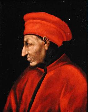 Portrait of Cosimo de'Medici (II Vecchio) (1389-1463) copied from Jacopo Pontormo (1494-1557)