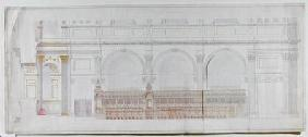 Elevation of the choir in St. Paul's Cathedral as redecorated by C.R. Cockerell (1788-1863) 1848 (pe