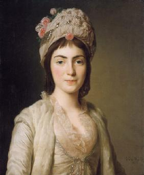 Portrait of Zoie Ghica, the Princess of Moldavia