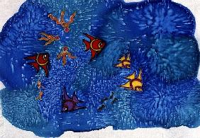 Fish, 1999 (painted silk)