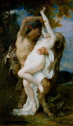 Nymph Abducted by a Faun