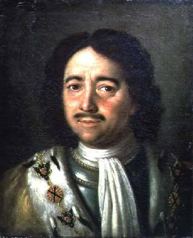 Portrait of Tsar Peter I the Great (1672-1725)