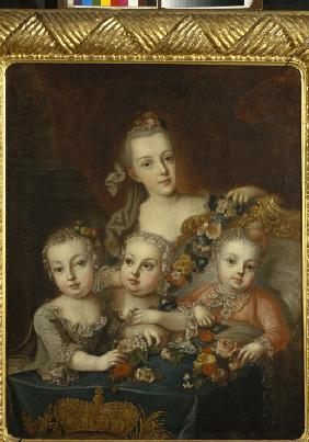 Portrait of Children of Empress Maria Theresia of Austria (1717-1780)