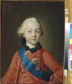 Portrait of Grand Duke Pavel Petrovich (1754-1801) as child