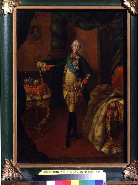 Portrait of the Tsar Peter III (1728-1762)
