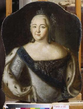 Portrait of the czarina Elisabeth Petrowna