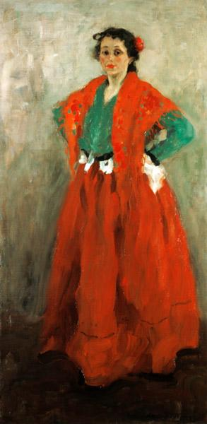 Helene Jawlensky in Spanish outfit.