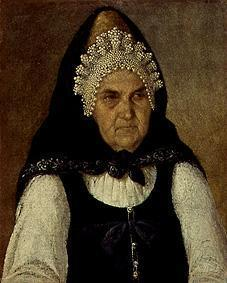 Portrait of a Russian merchant woman.
