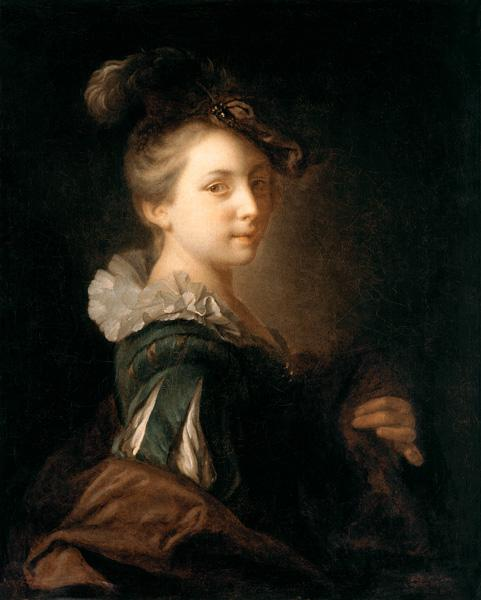 Young woman in a theatre outfit