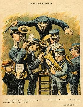 Band rehearsal, from the back cover of ''Le Rire'', 16th April 1898