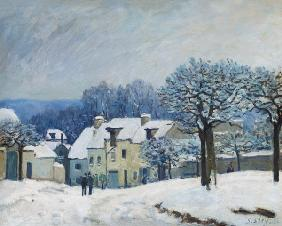 The Place du Chenil at Marly-le-Roi, Snow