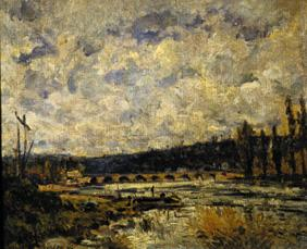 Sisley, Alfred : Bridge in Sevres.