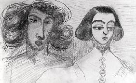 Self Portrait with George Sand (1804-76)