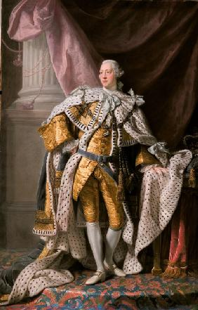 Portrait of the King George III of the United Kingdom (1738-1820) in his Coronation Robes