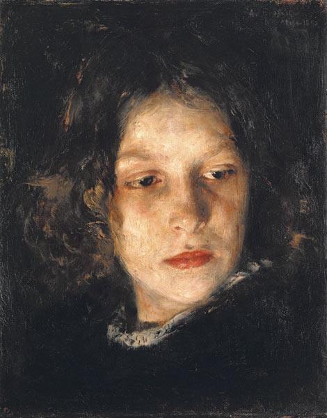 Girl Head Alois Erdtelt As Art Print Or Hand Painted Oil