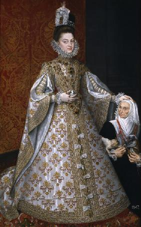 The Infanta Isabel Clara Eugenia (1566-1633) with the Dwarf, Magdalena Ruiz