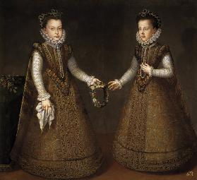 The Infantas Isabel Clara Eugenia (1566-1633) and Catherine Michelle of Spain (1567-1597)