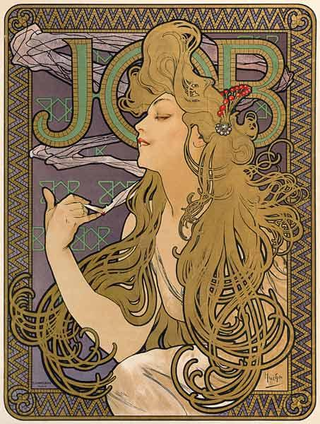 Mucha, Alphonse : Poster for the cigarette b...