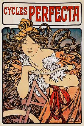 Mucha, Alphonse : Poster advertising ''Cycle...