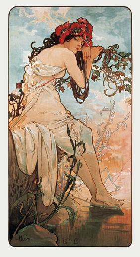 Mucha, Alphonse : The Seasons: Summer