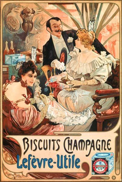Poster advertising ''Lefevre-Utile'' champagne biscuits