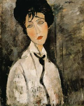 Woman portrait with tie