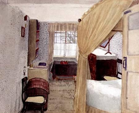 Bedroom Interior In Albany New York American School As Art Print