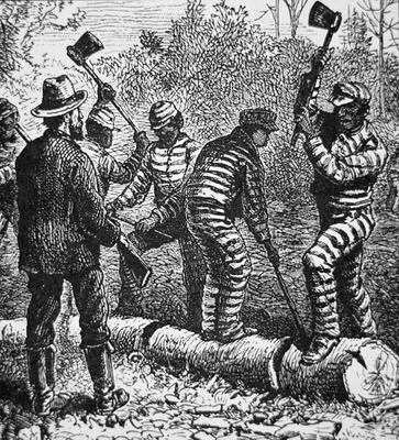 Black Convicts On A Chain Gang At Work I American School