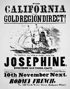 Clipper Ship Poster, 1849 (print)