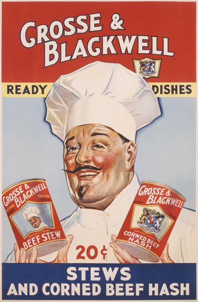 Advertisement for Crosse & Blackwell Ready Dishes, printed by The American Litho Co., New York