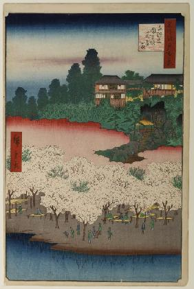 The Flower Mansion on Dango Slope in Sendagi (One Hundred Famous Views of Edo)
