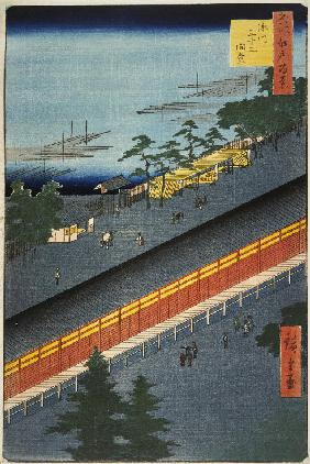 The Sanjusangendo Temple in the Fukagawa District (One Hundred Famous Views of Edo)