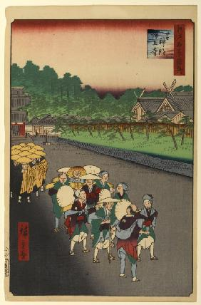Shimmei Shrine and Zojo Temple in Shiba (One Hundred Famous Views of Edo)