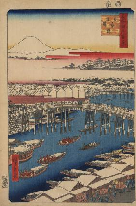 Clearing Weather after Snow at Nihon Bridge (One Hundred Famous Views of Edo)