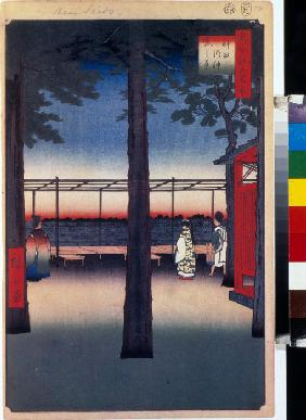 Dawn at the Kanda Myojin Shrine (One Hundred Famous Views of Edo)