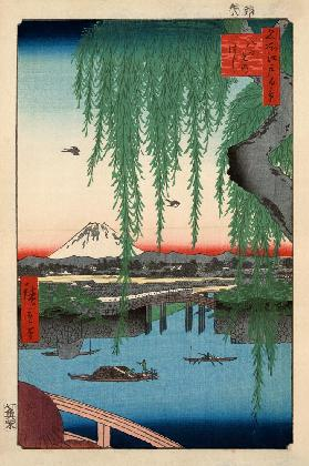 View of the Yatsumi Bridge (One Hundred Famous Views of Edo)