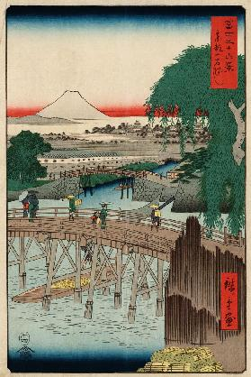 "Ichikobu Bridge (From the series ""36 Views of Mount Fuji"")"