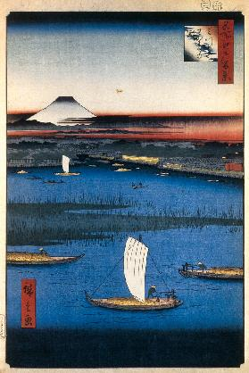 Mitsumata Wakarenofuchi (One Hundred Famous Views of Edo)