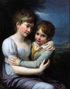 The children of the painter, Carlotta and Raffaello.