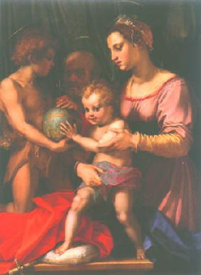 The Holy Family with John Baptist