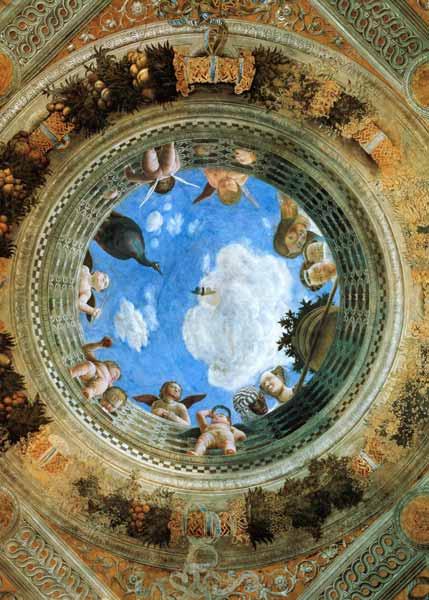 Camera degli sposi ceiling fresco pal andrea mantegna for Mantegna camera degli sposi palazzo ducale