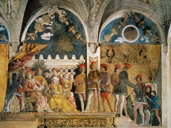 Marchese ludovico gonzaga iii his wife andrea mantegna for La corte dei gonzaga mantegna