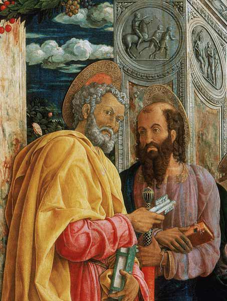 St. Peter and St. Paul, detail from the left panel of the St. Zeno of Verona Altarpiece