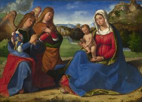 Previtali, Andrea : The Virgin and Child adore...