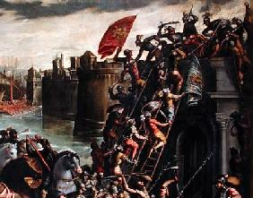 The Crusaders Conquering the City of Zara in 1202  (detail)