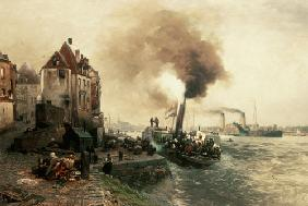 The coal gate at the bank of the Rhine of D�sseldorf