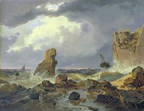 Surf on a Rocky Coast