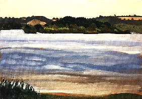 Denny Island, Chew Valley Lake (oil on board)