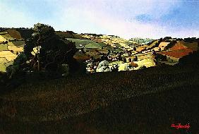 From Solsbury Hill (acrylic on canvas)