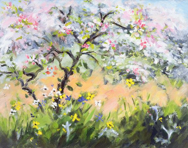 Durham, Anne  : Spring Blossom (oil on can...